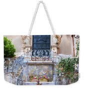 Sicilian Village Steps And Door Weekender Tote Bag by David Smith
