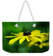 Side View Of A Yellow Flower Weekender Tote Bag