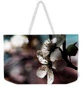 Side View Of White Flowers Weekender Tote Bag