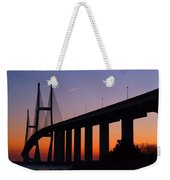 Sidney Lanier Bridge At Sunset Weekender Tote Bag