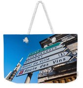 Sign For The Route Des Vins, Arbois Weekender Tote Bag