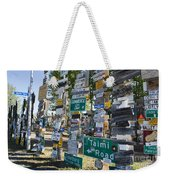 Sign Forest Watson Lake Weekender Tote Bag