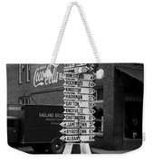 Sign Post In Crossville Tennessee 1939 Weekender Tote Bag