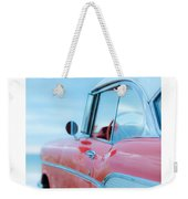Signed Chevy Belair At The Beach Mini Weekender Tote Bag