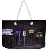 Signs Of A Crater - Sicily Weekender Tote Bag
