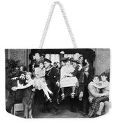 Silent Film Still: Parties Weekender Tote Bag