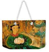 Silent Lotus Weekender Tote Bag