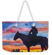 Silhouette Cowboy Weekender Tote Bag