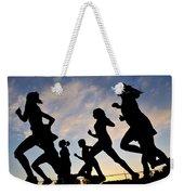 Silhouette Female Runners Weekender Tote Bag