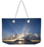 Silhouette Island Weekender Tote Bag