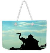 Silhouette Of A Heron Weekender Tote Bag