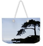 Silhouette Of Monterey Cypress Tree Weekender Tote Bag
