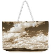 Silhouette Of People Standing In Lake Weekender Tote Bag
