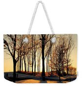 Silhouette Of Trees And Ice Weekender Tote Bag