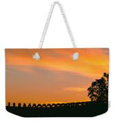 Silhouette Of Vineyard At Sunset, Paso Weekender Tote Bag