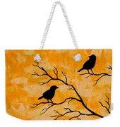 Silhouette Orange Weekender Tote Bag