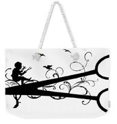 Silhouette Scissors Weekender Tote Bag