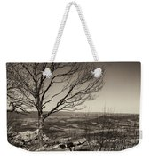 Silhouetted Above A Flat Earth Weekender Tote Bag