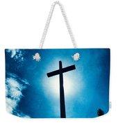 Silhouetted Cross Weekender Tote Bag