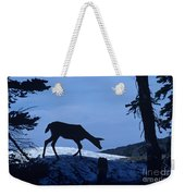 Silhouetted Deer Weekender Tote Bag