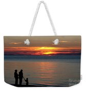 Silhouetted In Sunset At Sturgeon Point Marina Weekender Tote Bag