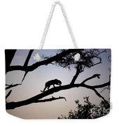 Silhouetted Leopard Weekender Tote Bag