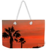 Silhouetted Palm Trees Weekender Tote Bag