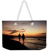 Silhouettes On Varadero Beach Weekender Tote Bag