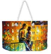 Silhouettes - Palette Knife Oil Painting On Canvas By Leonid Afremov Weekender Tote Bag