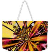 Silk Flower Weekender Tote Bag
