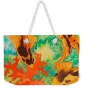 Silk Koi Weekender Tote Bag