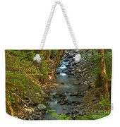 Silky Stream In Rain Forest Landscape Art Prints Weekender Tote Bag