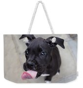 Silly Boxer Sticking Tongue Out Weekender Tote Bag