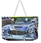 Silver 1963 Austin Healey Roadster 3000 Weekender Tote Bag