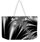 Silver And Black Abstract Weekender Tote Bag