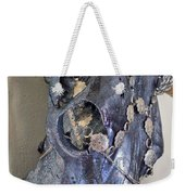 Silver And Black Illuminating Bull Skull Weekender Tote Bag