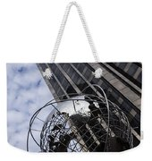 Silver And Blue Planet Earth Weekender Tote Bag