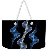 Silver And Blue Spirals Weekender Tote Bag