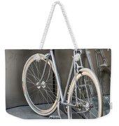 Silver Bike Weekender Tote Bag