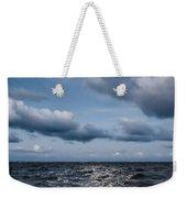 Silver Blue Moon Weekender Tote Bag