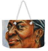 Silver Girl Weekender Tote Bag