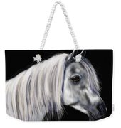 Grey Arabian Mare Painting Weekender Tote Bag