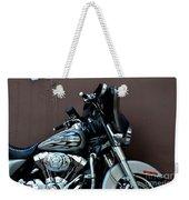 Silver Harley Motorcycle Weekender Tote Bag