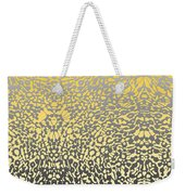 Silver Lace Frost Weekender Tote Bag