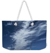 Silver Lake Dune With Grass Dead Trees And Cirrus Clouds Weekender Tote Bag