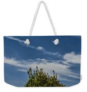 Silver Lake Dune With Tree Grove And Cirrus Clouds Weekender Tote Bag
