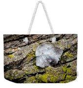 Silver Leaf Weekender Tote Bag