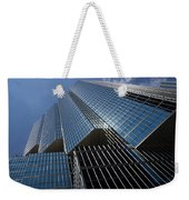 Silver Lines To The Sky - Downtown Toronto Skyscraper Weekender Tote Bag