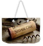 Silver On Silver Weekender Tote Bag