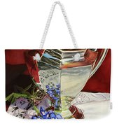 Silver Pitcher And Bluebonnet Weekender Tote Bag